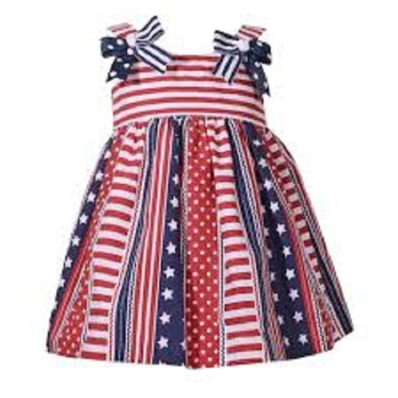 bcb7021aac6e7 Bonnie Jean Dresses | Toddler Dress 4t Red White Blue Star Stripe 2 ...